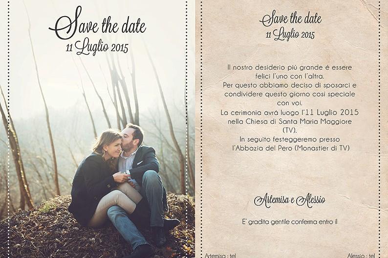 """""""Save the date"""" le partecipazioni di matrimonio con foto"""