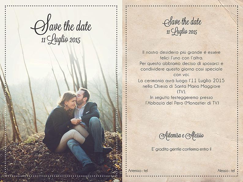 """abbastanza Save the date"""" le partecipazioni di matrimonio con foto - Blog  ZC91"""