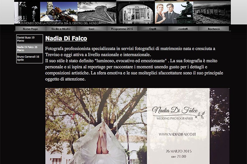 Ospite presso VenetoFotografia – Giovedì 26 marzo
