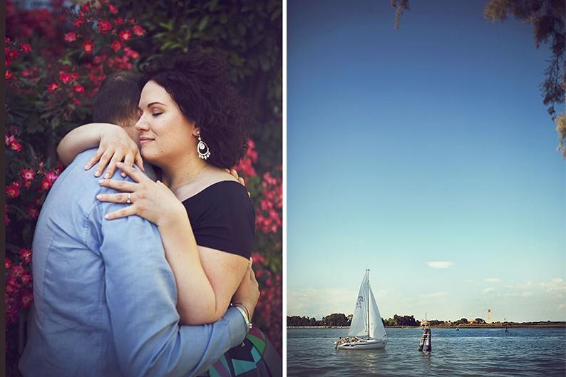 Shooting nelle isole di Venezia con barca privata