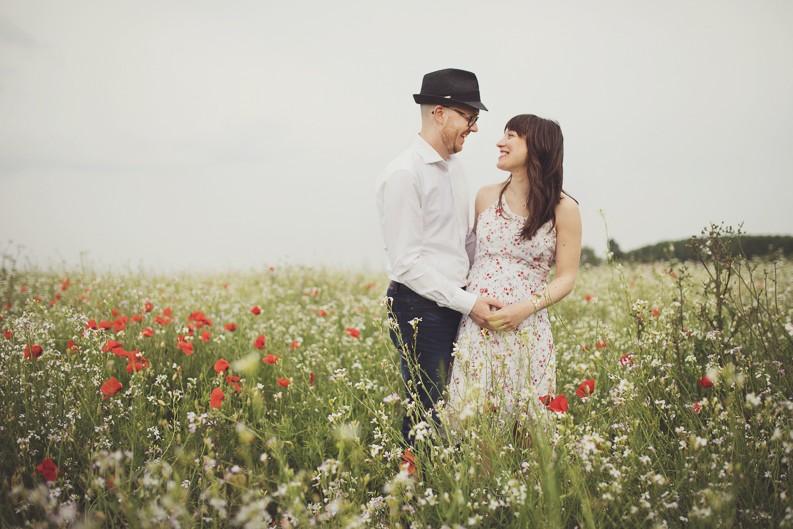 Premaman tra i fiori e la natura – Elisa e Andrea