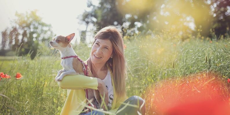 Elisa e la sua Chihuahua